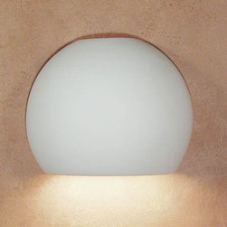 A-19 Lighting - Bonaire Fluorescent Flush Downlight - Simple yet chic, this fluorescent ceramic sconce is handmade in America.   Its unfinished bisque surface is beautiful in its natural state; however, you may easily paint it to more perfectly enhance your design scheme.   A-19 Lighting - 1601D-1PL13