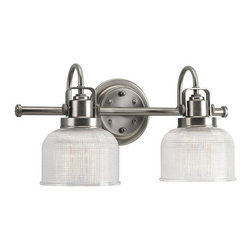Progress Lighting - Progress Lighting P2991-81 Archie Two Light Bathroom Vanity Light Antique Nickel - Progress Lighting P2991 Archie Bathroom Light