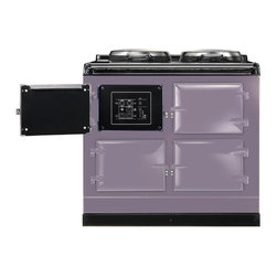 AGA Total Control Range Cooker, Heather | ATC3-HEA - The AGA Total Control Range Cooker is a newly designed version of the classic icon of British cooking. Three radiant-heat cast iron ovens and two hotplates give you 10 delicious ways to cook in one range.