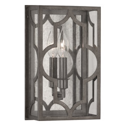 Robert Abbey - Addison Wall Sconce, Patina Nickel - -1-60W Max.