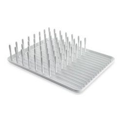 Oxo - OXO Good Grips Dish Rack - Keep your dishes secure and upright as they are drying. The OXO Dish Rack accommodates plates, glasses, mugs and more.