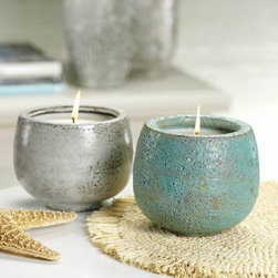 Aegean Sea Volcanic White Ceramic Scented Candle Jar - Most of us probably won't make it to the Maldives, but we can get a whiff of it with these unique scented candle jars. A great gift for a friend or a good treat to give yourself when you need a little break.