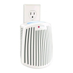 Hamilton Beach - TruAir Plug Mount Odor Eliminator - This Hamilton Beach TrueAir plug-mount odor eliminator does not mask odors - it eliminates them and its scented cartridge freshens the air. Its carbon filter traps and neutralizes odors in the kitchen in the bathroom and in pet areas as well as smoking/tobacco odors. The quiet fan pulls in unwanted odors. Plugs into standard 110 volt outlet. It has a filter replacement indicator and on/off switch.
