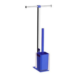 Gedy - Steel Floor Standing Bathroom Butler in Resin, Blue - Need a bathroom butlers? This one is a floor standing modern & contemporary bathroom butlers that will fit perfectly into your contemporary master bath.