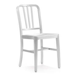 Zuo Modern - Zuo Bistro Chair in Brushed Aluminum [Set of 2] - This chair is made from light weight aluminum with a brushed finish.