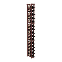Wine Racks America - 1 Column Magnum/Champagne Cellar Kit in Redwood, Cherry + Satin Finish - Talk about magnum force! This sturdy wooden wonder accommodates large bottles and looks great doing it. So go ahead, order that case of champagne!