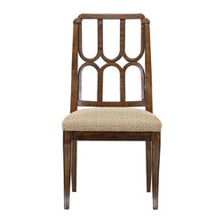 Stanley Furniture - Archipelago-Port Royal Side Chair - Gently curved legs complement the U-shaped design on the back of the Port Royal Side Chair. The perception of tropical styles elevates with this new take. Gracious, refined, yet still comfortable, the chair lets the quality of the materials shine through.