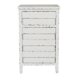 Safavieh - Audrey Lingerie Chest - Perhaps breakfast at Tiffany's wasn't meant to be, but the soft, feminine white finish on pinewood of the Audrey Lingerie Chest lends an air of feminine Hepburn charm to any room. Its clean lines give it a visual versatility that makes it just as charming storing stationary in a home office as it is storing delicate garments in the bedroom.