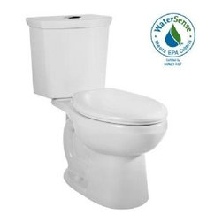 American Standard - American Standard H2Option Siphonic Dual Flush Elongated Toilet (2887.216.020) - American Standard 2887.216.020 H2Option Siphonic Dual Flush Elongated Toilet, White
