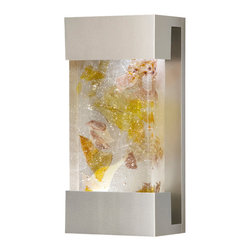 Fine Art Lamps - Crystal Bakehouse Carnelian & Citrine Crystal Sconce, 810850-21ST - Bring the beauty of natural minerals to your favorite setting — indoors or out. This sleek wall sconce showcases a hand-crafted, polished block of carnelian and citrine crystal shards within a sleek frame.