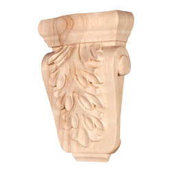 Hardware Resources - Rubberwood Traditional Corbels - Corbel 3-5/8In. x 1-1/2In. x 5-1/2In. Species: Rubberwood
