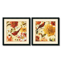 Amanti Art - Rainbow Garden Spice - Set by Lisa Audit - Decorate with springtime year round with these garden floral pieces by Lisa Audit.