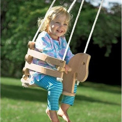 Wooden Horse Swing - Suspend this handmade horsey swing from your porch or a sturdy tree on your property.