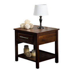 Great Deal Furniture - Glendora Wood Single Drawer Nightstand End Table, Brown Mahogany - The Glendora Mahogany Wood Nightstand is the perfect accent piece to complete your bedroom or living room decor. Made from acacia wood, this bedside nightstand can double as an end table. With its storage capability, you'll have the option of tucking away items in the single drawer, or utilize the open bottom shelf for plants and other decorative items to showcase. With its neutral color and contemporary style, this nightstand will go with almost any bedroom decor.