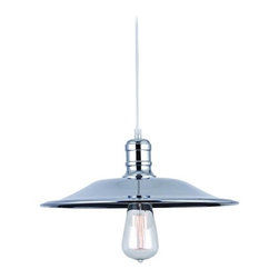 James R. Moder Lighting - Mini-Pendant Light - 47054S - Marine / nautical silver 1-light mini-pendant light. Takes (1) 60-watt incandescent A19 bulb(s). Bulb(s) sold separately. Dry location rated.