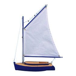 "Handcrafted Nautical Decor - Barnegat Bay Cat Sailboat 15"" - Nautical Decor - Not a model ship kit"