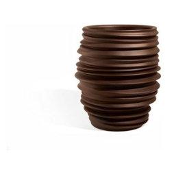 Babylon Planter Vase Stool Ribbed Asymmetrical And