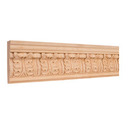 Hardware Resources - Alder Frieze Traditional Mouldings - Crown moldings ease the transition from ceiling to wall. They add character and elegance to your room from the simple and traditional to the rich curves and flowers of the Renaissance designs. Give your room the finishing touch it deserves.