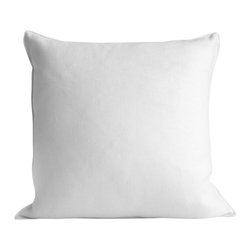 "Ayers Home Collection - Ayers Edge White Linen Pillow, White, 22"" X 22"", Edge White Linen - Add a touch of casual luxury to your home with the Ayers Edge Linen Throw Pillow. Offered in White & Driftwood, our linen pillows have a distinct vintage feel and wear well over time. Slubs and picks in the material add to the casual beauty of the look."