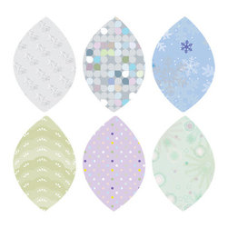 Simple Shapes - Winter Leaves Fabric Wall Stickers - Repositionable patterned leaves can be moved around reapplied as many times as you want! This is part of our Tree with Pattern Leaves collection. See link below for the full tree and leaves sets that are available.