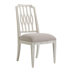Stanley Furniture - Charleston Regency-Cooper Dining Side Chair - The elliptical silhouette of the Cooper Dining Side Chair's pierced back splat is at home in transitional and traditional environs alike.