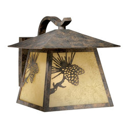 Vaxcel Lighting - Vaxcel Whitebark Outdoor Wall Light - 11W in. Olde World Patina - OW50513OA - Shop for Wall Mounted from Hayneedle.com! Just because you ve arrived home doesn t mean that you have to completely abandon the wilderness when you keep just a trace of it illuminated on your porch with the Vaxcel Whitebark Outdoor Wall Light - 11W in. Olde World Patina. This wet-rated outdoor fixture has a metal body that s finished with a rustic patina and conceals a rust scavo glass shade. All you need to get started is a 150-watt medium-base bulb and an appreciate for Mother Nature.About Vaxcel LightingFor over 20 years Vaxcel International has been a premier supplier of residential lighting products. Based in Carol Steam Ill. Vaxcel's product line is composed of more than 2 000 items ranging from builder-ready fixtures and ceiling fans to designer chandeliers and lamps in the latest styles and finishes. They're known in the industry for offering a full selection of products at competitive prices.