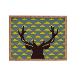 DENY Designs - Natt Mountain Deer Rectangular Tray - With DENY's multifunctional rectangular tray collection, you can use it for decoration in just about any room of the house or go the traditional route to serve cocktails. Either way, you''_''__ll be the ever so stylish hostess with the mostess!