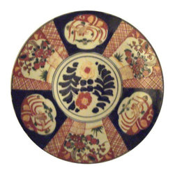 "Pre-owned Japanese Imari Charger - A lovely hand decorated antique porcelain charger...Yes that sounds incredibly boring, however it IS lovely and there is a reason the Japanese have done organic decoration for centuries. With shades of navy, cobalt, orange, Chinese red and parrot green on a porcelain white ground, this lovely antique charger works with traditional or modern decor. This hand decorated piece dates from approx.1880-1910 and is 12.25"" in diameter. Imari pieces play especially well with brass and gold.    This charger would look great in a collection. Please see seller's other listings for other chargers and decorative pieces."