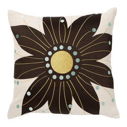 Emma at Home - Oahu Pillow, Ink - If you can't get to the islands for a vacation, why not bring the tropics home? It's fun to see a modern take on Hawaiian flowers. The colors are refreshing and the design would be a cheery and playful addition to any room.