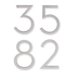 Design Within Reach - Neutra Number - Aluminum   Design Within Reach - Extend the mid-century modern style to the exterior of your home, down to the fine details with these Neutra numbers that are true to the original 1930s font.