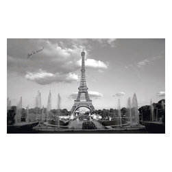 York Wallcoverings - Eiffel Tower Paris France Giant Wallpaper Accent Mural - Features:
