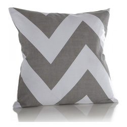 Charlie Pillow - Our oversized Chevron pattern brings sophistication to this classic print.   Use alone or layer with other pillows to add color and dimension to your favorite space.