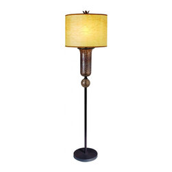 Joshua Marshal - One Light Antique Bronze Bronze Terra Glass Antique Marble Parchment - One Light Antique Bronze Bronze Terra Glass Antique Marble Parchment