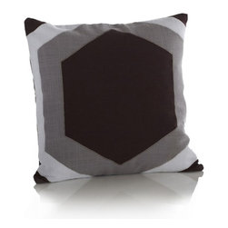 Tulum Pillow - Modern Yucatan style.  Our bold Tulum pattern is the perfect statement piece for your favorite pillowscape.