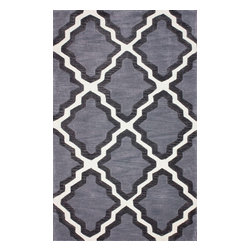 "nuLOOM - Contemporary 7' 6"" x 9' 6"" Grey Hand Tufted Area Rug Trellis GR04 - Made from the finest materials in the world and with the uttermost care, our rugs are a great addition to your home."