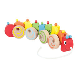 The Original Toy Company - The Original Toy Company Kids Children Play My Pet Caterpillar - This classic designed pull toy has constant moving action, constructed of hardwood with metal linkage, each part of the body moves independently from the other, providing hours of imaginative play.