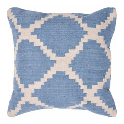 Jaipur Rugs - Cadiz Seville Pillows Set of 2 - Large geometric patterns make a great component for mixing and matching pillows. Pair with a smaller pattern (like a floral) and solid color pillows for an easy and good-looking combination. You could place this one in a guest room or nursery, but it's versatile enough to use anywhere.