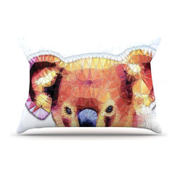 """Kess InHouse - Ancello """"Cute Koala"""" Orange Pink Pillow Case, Standard (30"""" x 20"""") - This pillowcase, is just as bunny soft as the Kess InHouse duvet. It's made of microfiber velvety fleece. This machine washable fleece pillow case is the perfect accent to any duvet. Be your Bed's Curator."""