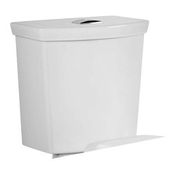 American Standard - American Standard 4339.216.020 H2Option Tank Complete, White - This American Standard 4339.216.020 H2Option Tank Complete is part of the H2Option collection, and comes in a beautiful White finish. This tank features all the installation components, and comes with a top mounted push-button trip lever. This model is designed for use with American Standard's H2Option Dual Flush Toilets.