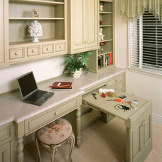 Contemporary Home Office by CFM KITCHEN & BATH INC.