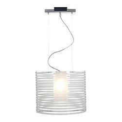 Access Lighting - Access Lighting 55526-CH/ACLR Enzo 1-Light Pendants in Chrome - Acrylic Pendant