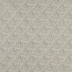 Gray And Silver Two Toned Fan Upholstery Fabric By The Yard - P2311 is great for residential, and commercial applications. This fabric will exceed at least 35,000 double rubs (15,000 is considered heavy duty), and is easy to clean and maintain.