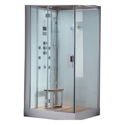 Ariel - Ariel Platinum DZ959F8 White L Steam Shower 47x35.4x84.6 - These fully loaded steam showers include massage jets, ceiling & handheld showerheads, chromotherapy, aromatherapy and built in radios to help maximize the therapeutic experience Dimensions:  47 x 35.4 x 84.6, ETL listed (US & Canada electrical safety) 220v, Computer control panel w/ timer for easy use, Steam sauna (6KW generator) w/ Cleaning Function for Disinfection, 6 Acupressure Body Jets for Massage Therapy, Handheld and Rainfall Showerhead for Ultimate Experience, Cleaning Function for Disinfection, 1 Stool, FM Radio for Easy Listening , Overheat protection, Available in left / right versions