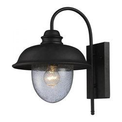 ELK Lighting - One Light Matte Black Outdoor Wall Light - One Light Matte Black Outdoor Wall Light