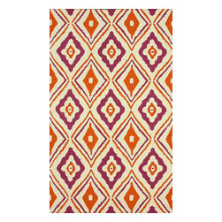 """nuLOOM - Contemporary 7' 6"""" x 9' 6"""" Purple Hand Hooked Area Rug Trellis HK115 - Made from the finest materials in the world and with the uttermost care, our rugs are a great addition to your home."""