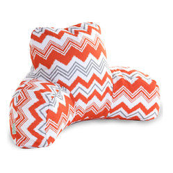 Majestic Home - Outdoor Orange Zazzle Reading Pillow - Now you can kick back and relax anywhere, inside or out, with this comfortable and supportive Reading Pillow. The Majestic Home Goods Indoor/Outdoor Reading Pillow provides back and head support that is perfect for many activities such as reading, working on your laptop or lounging with friends. Stuffed with a super loft recycled polyester fiber fill, the reading pillows zippered slipcover is woven from Outdoor Treated polyester and has up to 1000 hours of U.V. protection. The slipcover also zips off and is machine-washable.