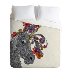 DENY Designs - Valentina Ramos Unicornucopia Duvet Cover - Turn your basic, boring down comforter into the super stylish focal point of your bedroom. Our Luxe Duvet is made from a heavy-weight luxurious woven polyester with a 50% cotton/50% polyester cream bottom. It also includes a hidden zipper with interior corner ties to secure your comforter. it's comfy, fade-resistant, and custom printed for each and every customer.