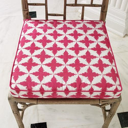Global Views - Global Views Solitaire/Seat Cushion-Fuschia - Solitaire/Seat Cushion in Fuschia by Global Views55% Cotton 45% LinenLining: 100% CottonFill: 100% Polyester & Foam*SPOT CLEAN ONLY
