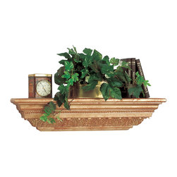 """Renovators Supply - Shelves Gold Polyurethane 24"""" L x 2 1/4"""" H x 5"""" Deep Shelf - Easy to install and beautiful!  Use it as is or paint it to match your decor.  This shelf comes with everything you need to hang it up, and it measures 24"""" long."""