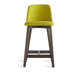 Blu Dot - Blu Dot | Chip Counter Stool - The appeal of Blu Dot's Chip series is its ability to suit a variety of styles, while still being confidently interesting. The Chip Counter Stool offers elevated seating featuring Chip's easy, versatile silhouette that complements just about any décor and a multitude of spaces. Offered in several wood frame and upholstery colors.